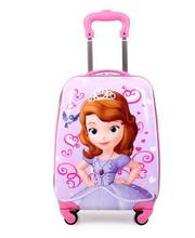 Kid's Travel Luggage suitcase Childred Trolley Case Cartoon Rolling Bag for School  Kids Trolley Bag on wheels Boarding Box