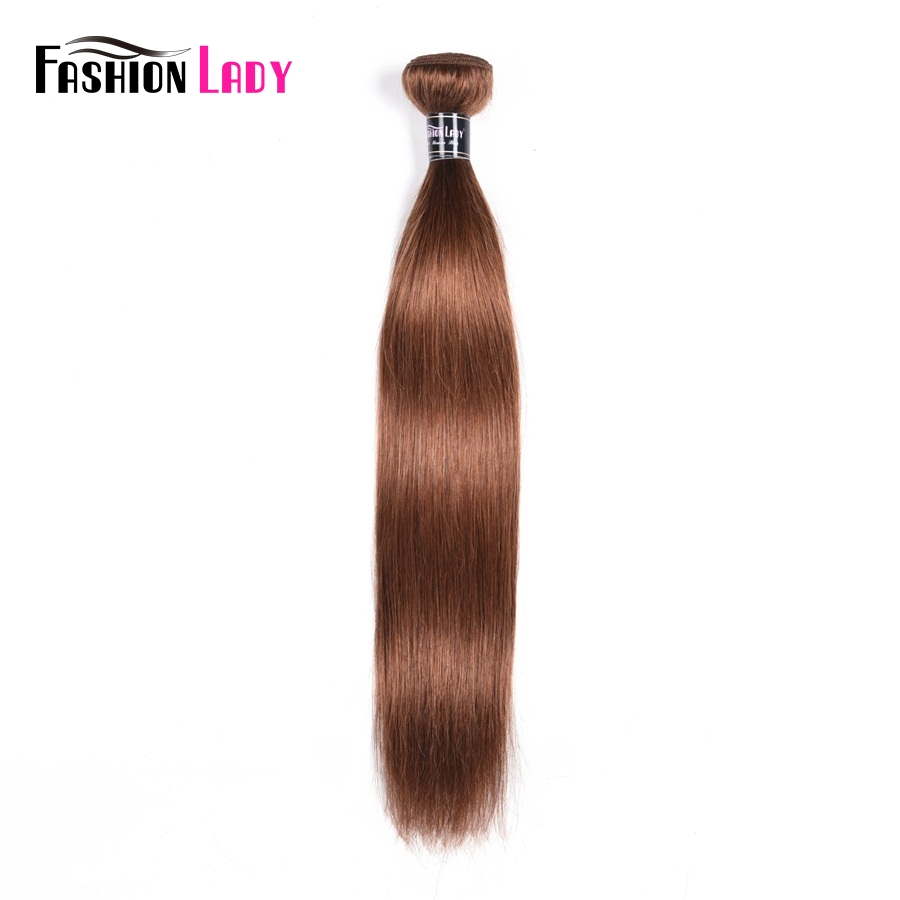 Fashion Lady Pre-colored Brazilian Weave Color 30 Bundles Straight Human Hair Extensions Brown 1/3/4 Bundle Per Pack Non-remy