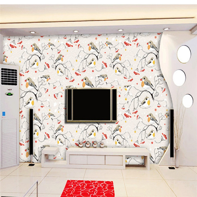 Custom Various Size 3D Photo Wallpaper Pastrol Style Bedroom TV Background Wall Paper for Living Room Non-woven Mural Wallpaper non woven bubble butterfly wallpaper design modern pastoral flock 3d circle wall paper for living room background walls 10m roll