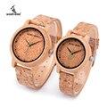 BOBO BIRD relogio feminino влюбленные бамбуковые кварцевые часы Лидирующий бренд модная пробка ремешок наручные часы aM11