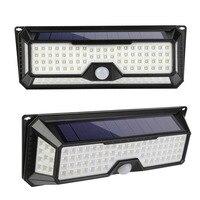 136 LED Solar Light PIR Motion Sensor Home Garden Garage Yard Gate Security Light 1300LM Waterproof Outdoor Solar Wall Lamp