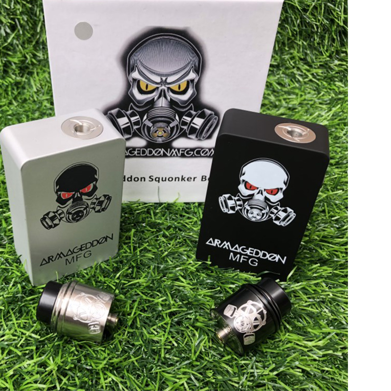 Armageddon Squonker BF Mod Box Kit Apocalypse bottom oil box set 18650 battery 6ml capacity kit with 510Thread Apocalypse mtlRDA in Electronic Cigarette Kits from Consumer Electronics