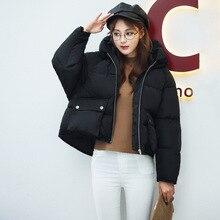 2016 Новое прибытие женщин пуховики 5 цвета хлопок свободные отложным воротником с капюшоном зимние куртки корейской версии мода пальто