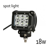 4inch Spot Lights Waterproof 18W LED Work Light Bar Beam DRL For Off Road Truck