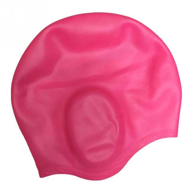 Bonnet natation cheveux long
