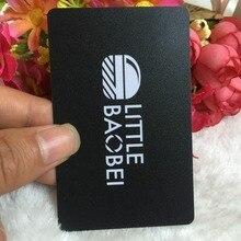 A espessura 0.38mm personalizou o cartão de visita da impressão de dois lados personaliza o cartão de visita plástico do pvc da geada que imprime o cartão de visita