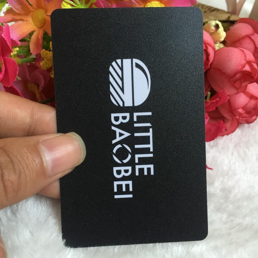 Us 34 0 15 Off Dicke 0 38mm Kundenspezifische Beidseitigen Druck Visitenkarte Fertigen Frost Kunststoff Pvc Visitenkarten Druck Visitenkarte In