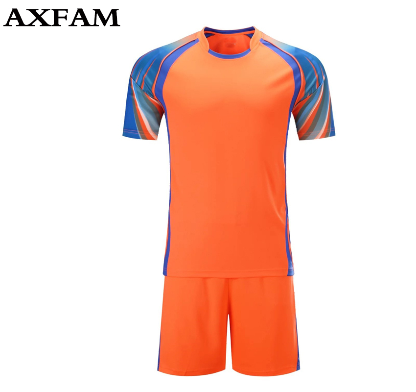 2017 Soccer Uniforms Blank Short sleeves font b Men b font Soccer Jerseys Sets survetement football
