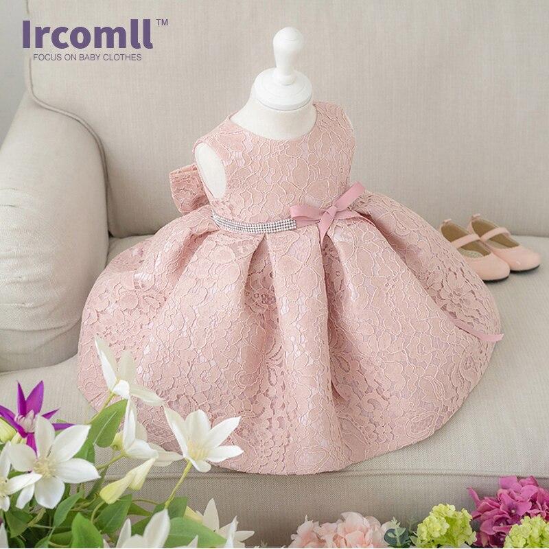 Bebê meninas vestidos de princesa para a festa de aniversário batizado  páscoa vestido de renda da criança lace flower dress para 0-2 anos d09339474ad26