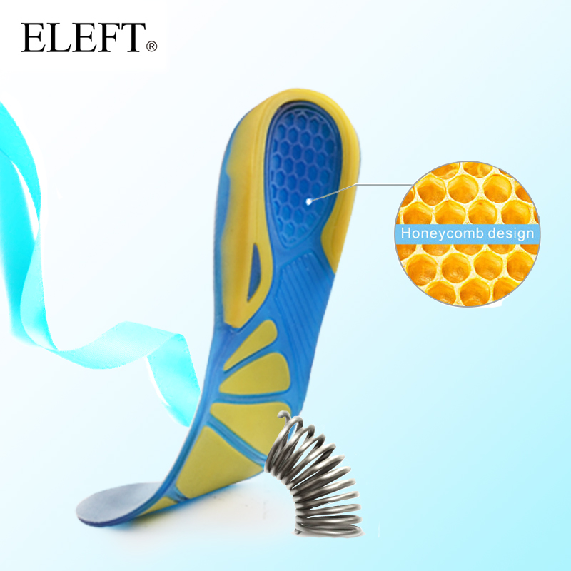 ELEFT High Resilient Silicone Gel Sport Insoles Cushioning Pads Foot Care Stability Supports The Heel For Greater Comfort