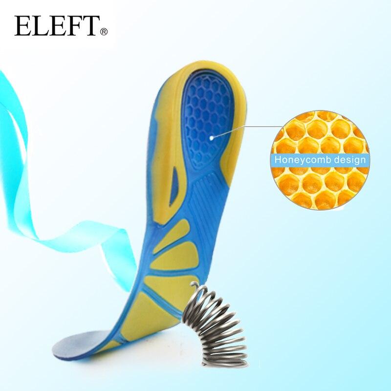 ELEFT Silicone orthopédique Gel Sport Semelles orthopédiques Soins des Pieds Tapis de Stabilité Soutient Le Talon Pour Plus de Confort semelle de chaussure