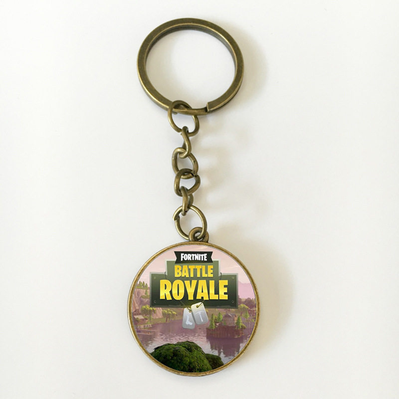 Fortnite Battle Royale Keychains Keyring Printing Personalized Jewelry Do Not Fade 16 Styles