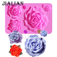 3D Flowers Silicone Mold Rose Shape Mould For Soap Candy Chocolate Ice DIYcake Decorating Tools Baking