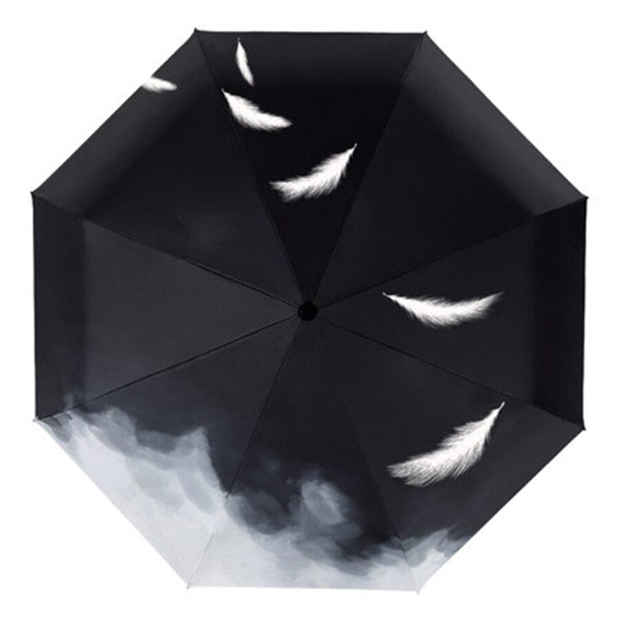 Mini parapluie pluie femmes automatique Parasol Corporation parapluie hommes hommes cadeau clair Uv paraguay pli Mujer poche plume 771 - 4