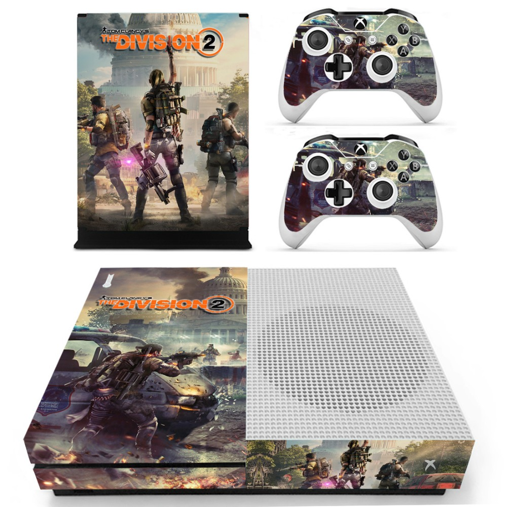 Tom clancy's The Division Stickers Hot Game Console Skin Decal Sticker For XBOX for ONE S Slim Console Kinect and 2 Controller