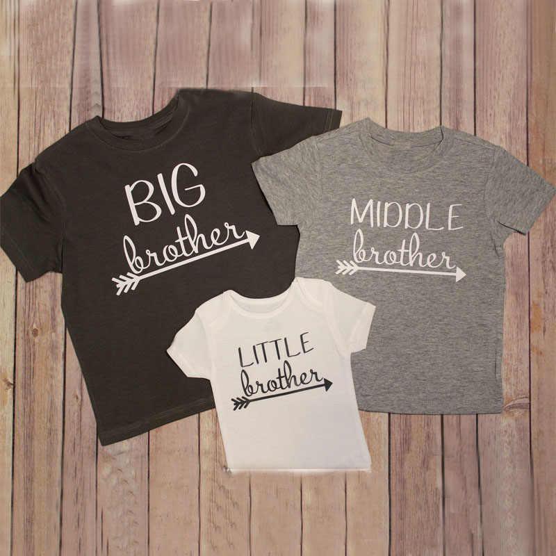 5e38525eea 2018 Brother Clothes Summer Family Kids t shirt Short Sleeve Little Baby  Boy tshirt Big Boys