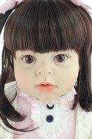 Новый дизайн моды Реалистичная Reborn Малыша Кукла Мягкая Силиконовая Винил реального нежное прикосновение 28 дюймов Модные подарки на день ро