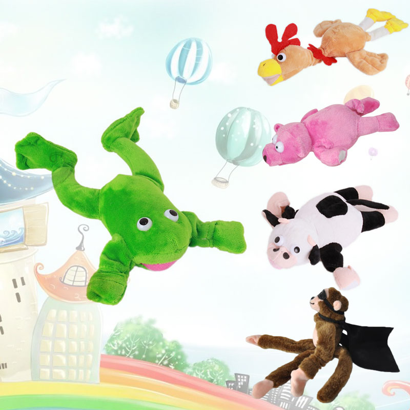 Flying Slingshot Shooting Plush Toys Stuffed Doll Model Kids Gifts Cute