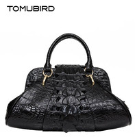 Brand women top handle bags luxury Cow Leather women bag alligator grain embossing perfectly female handbag fashion Mother bags