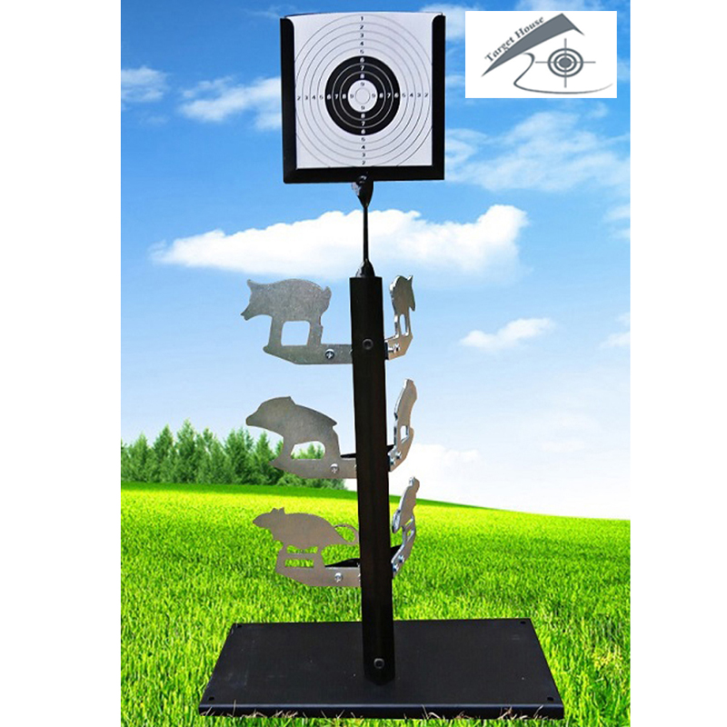 Dueling Tree Standing Target with 10 Pcs of Paper Target/ Airgun shooting /Also For Airsoft Paintball Shooting gy 1 fruit durometer fruit penetrometer apple hardness teter fruit hardness meter range 2 5kg cm2