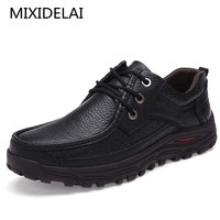 Men Shoes Handmade High Quality Genuine Leather Shoes Slip On Comfort Business Man Casual Shoes Big