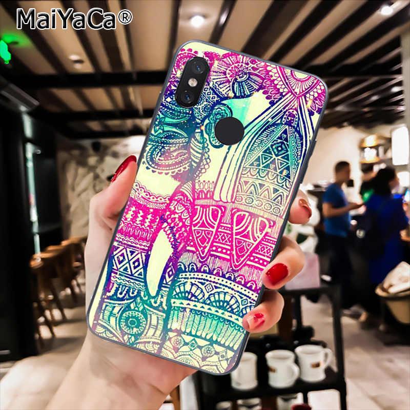 MaiYaCa חמוד פיל שחור TPU רך טלפון מקרה עבור Xiaomi Redmi4X 6A S2 ללכת Redmi 5 5 בתוספת Note4 Note5 7 Note6Pro