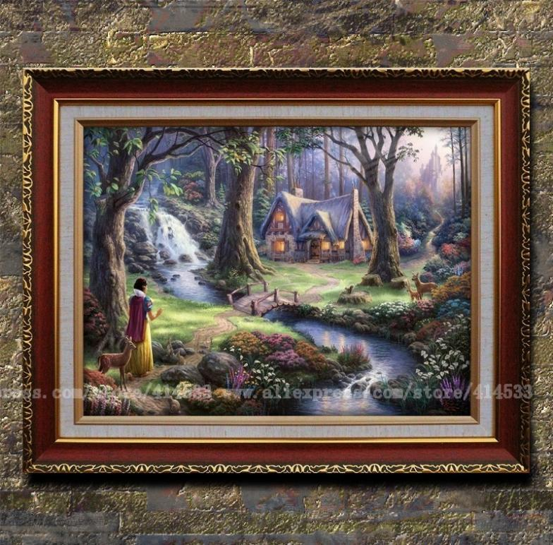 Buy thomas kinkade prints oil painting - Home interiors thomas kinkade prints ...
