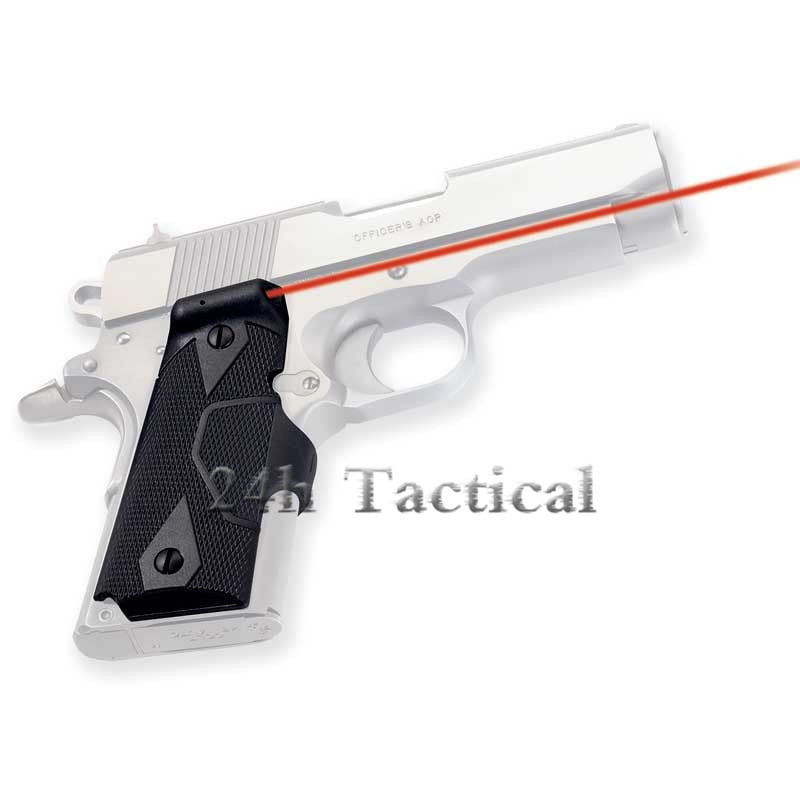 Tactical 1911 Handle Grip Red Laser Sight Outdoor Red Dot Laser Pistol Aiming Hunting Accessories