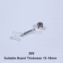 100PCS 3 In 1 Furniture Connecting Suitable Board Thickness 15-20mm Woodworking Accessories KF1023