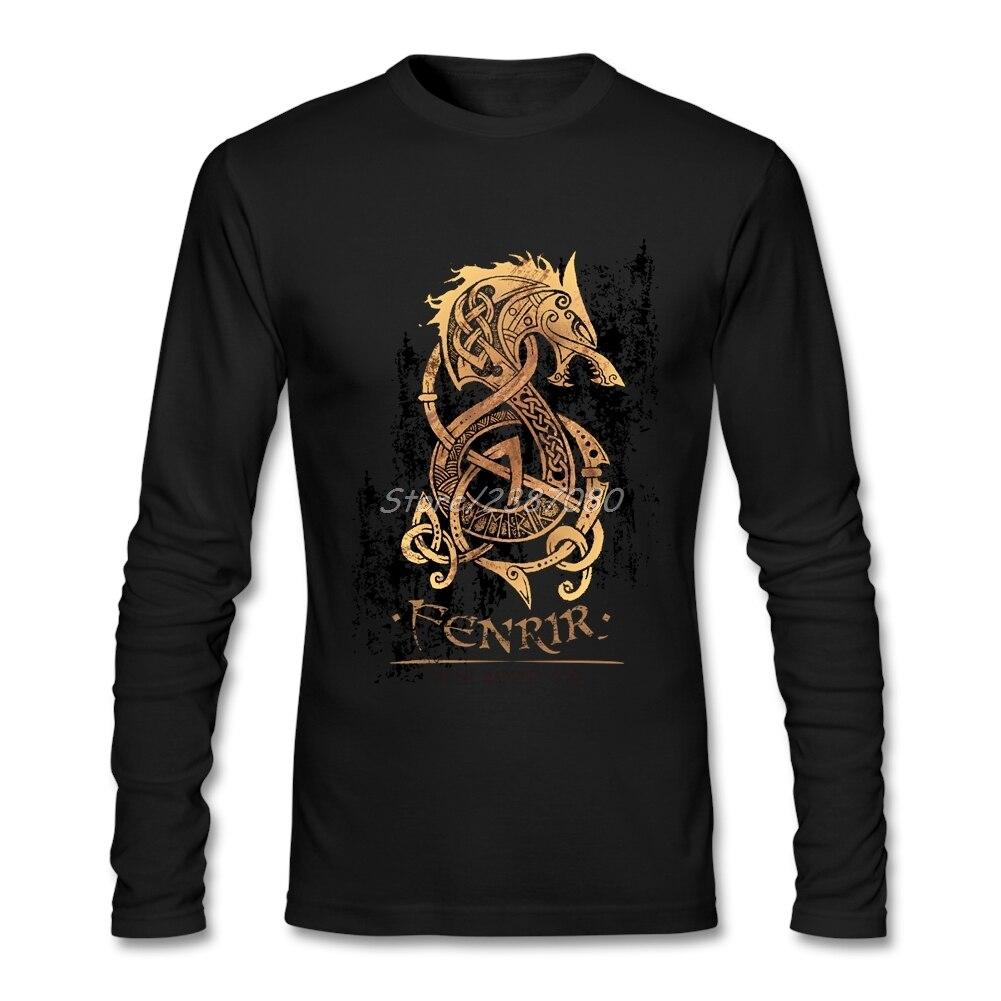 Vikings Berserk T Shirt Manica Lunga Custom Vestiti Hip Hop di Vendita Caldo del O-collo Vestiti di Cotone Per Gli Uomini