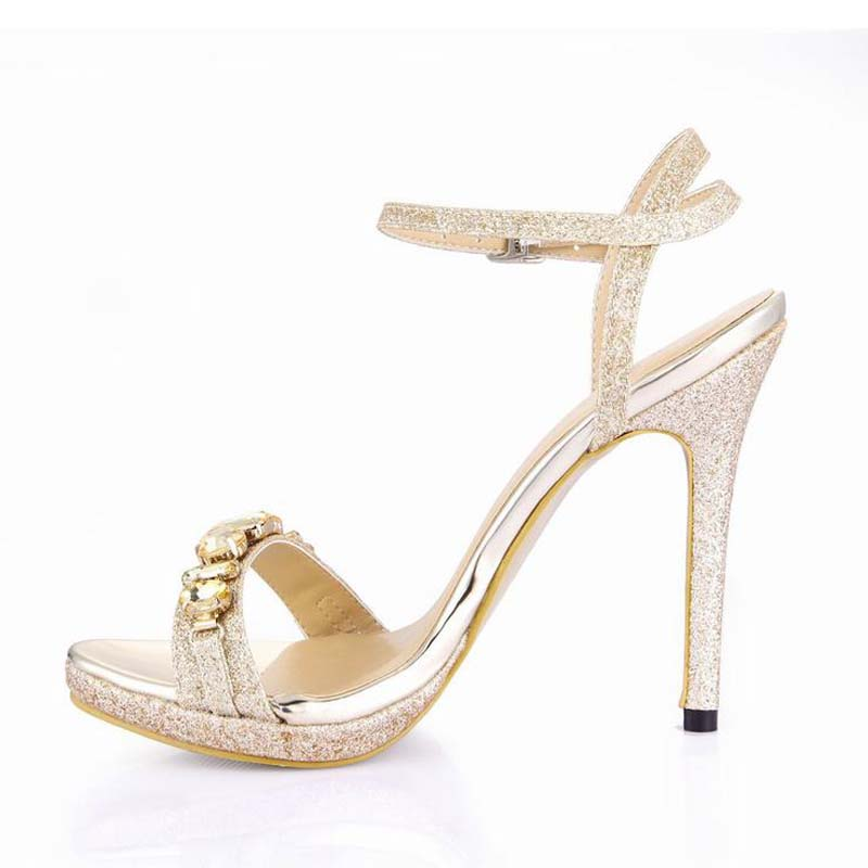 Summer Shoes Woman Rhinestone Sandals Women Sexy Thin High Heels Zapatos Mujer Sapato Tenis Feminino Ladies Party Wedding Shoes summer zapatos mujer peep toe 15cm thin high heels sandals crystal platform sexy woman shoes wedding dance shoes
