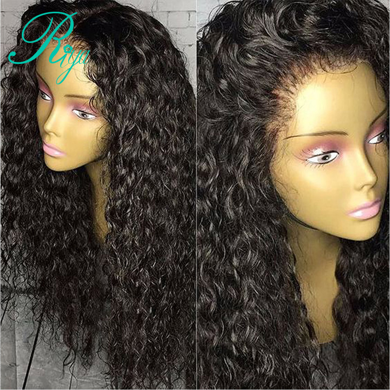 Riya 13x6 Deep Part Pre Plucked Deep Curly Lace Front Human Hair Wigs With Baby Hair