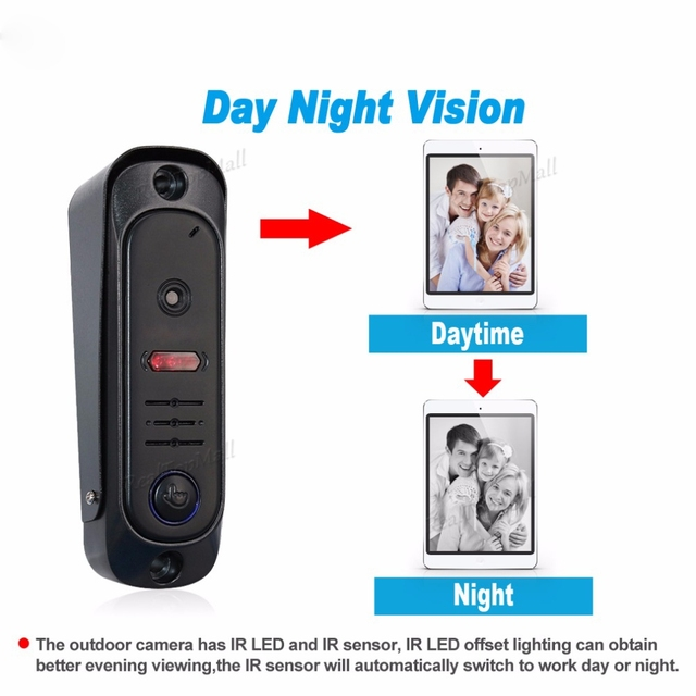 Dual way intercom Wireless WIFI Video Doorphone Door Entry Security System support Snap&Recording&Transfer Call&Motion Detection