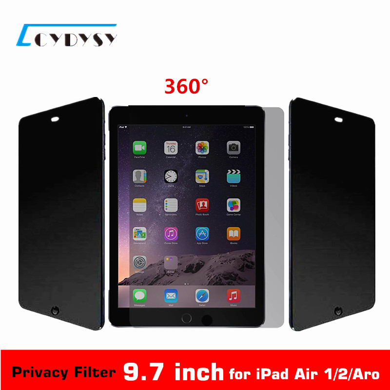 9.7 inch 360 Degree Tablet PC <font><b>Privacy</b></font> <font><b>Filter</b></font> Screen Protector for <font><b>iPad</b></font> <font><b>Air</b></font> 1/<font><b>iPad</b></font> <font><b>Air</b></font> 2 /Aro (165x237mm) free shipping
