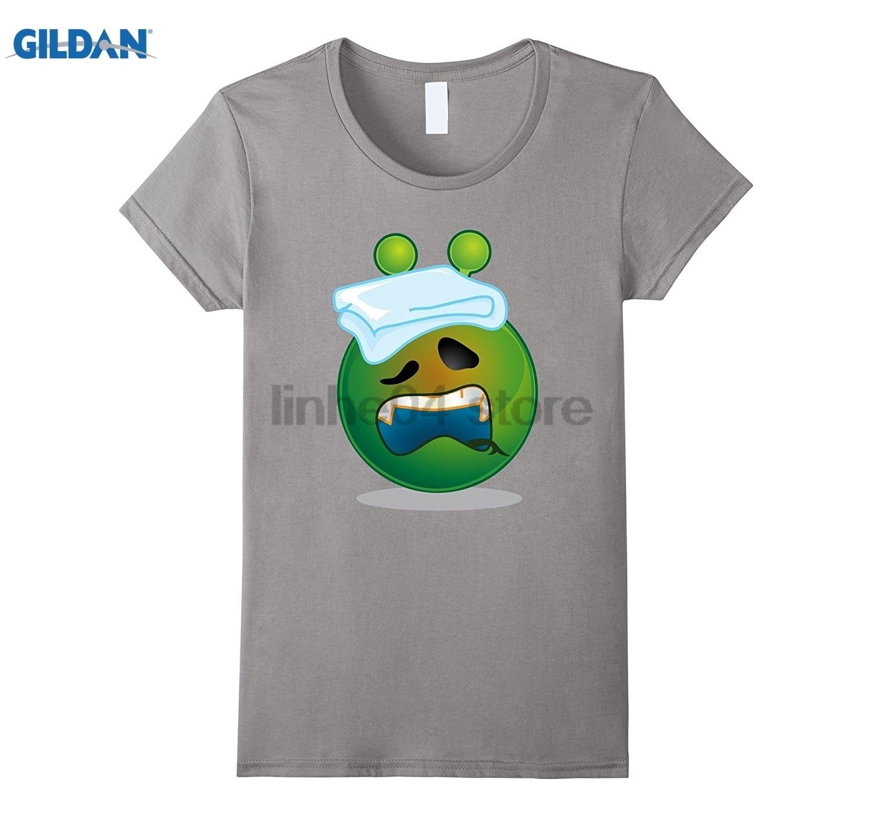 GILDAN Mens Womens Youth Boy Girl Im Sick Alien Emoji Shirt glasses Womens T-shirt