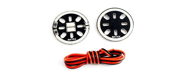 Matek LED Blue X2 5V Motor Mount Navigation Light For FPV Quadcopter Frame QAV180 QAV X