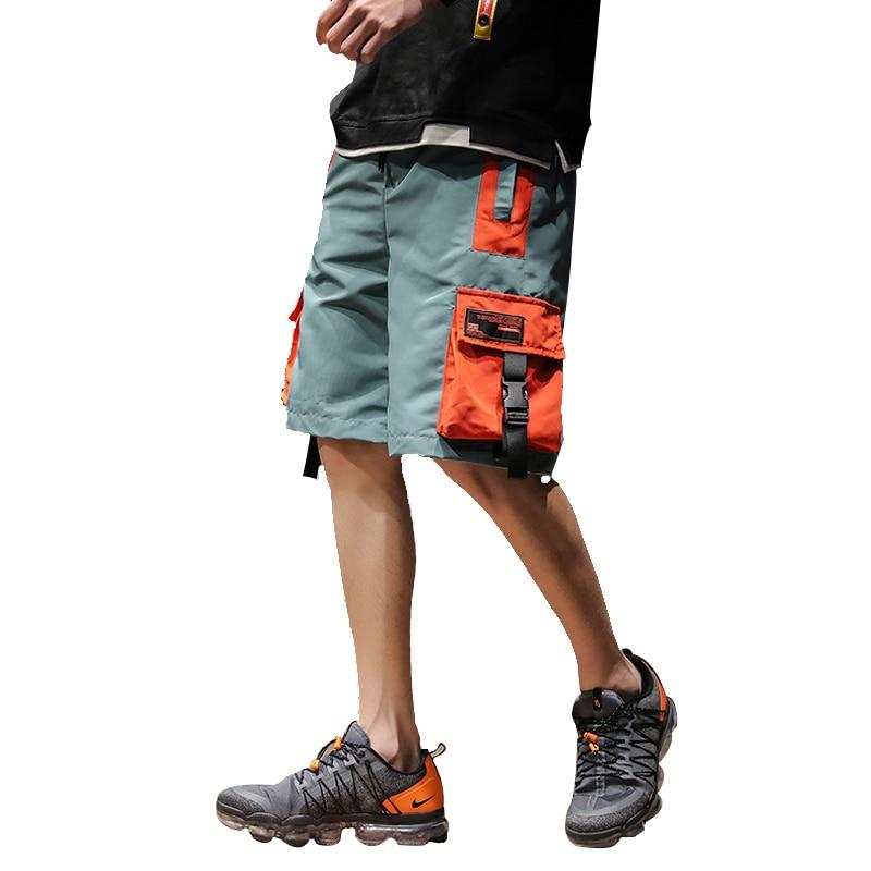 2020 Summer Casual Shorts Men Streetwear Hip Hop Cargo Shorts Casual Fitness Multi Pockets Men's Bermuda Shorts