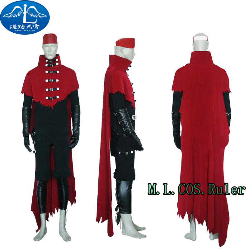 New Final Fantasy Turks Vincent Valentine uniforms cosplay Costume tailor-made: