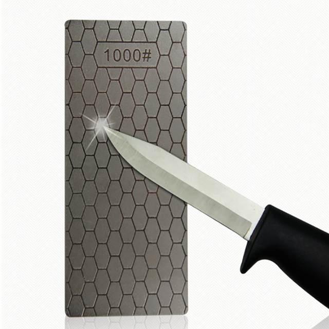 1PC Portable Ultra-thin Diamond Sharpening Stone 150*63*1mm Honeycomb Surface Whetstone Knife Sharpener Kitchen Grinding Tool