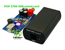 USB Sound Card HiFi Mini Computer External Sound Card PCM2706 Digital PC USB DAC Free Shipping hifiboy