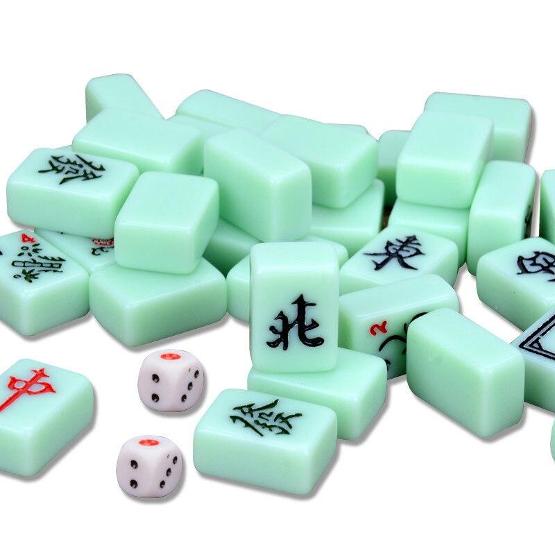 Solid Melamine material Small 22 or 24 Chinese mahjong tiles lovely Mini Portable travel Mah Jong