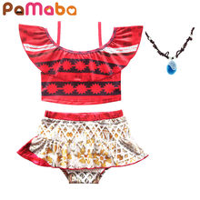 e07e1bb264 PaMaBa Summer Baby Girl Two Pieces Moana Beach Swimwear Kids Toddler  Bathing Suit Infant Swimming Clothes Children Beach Outfit