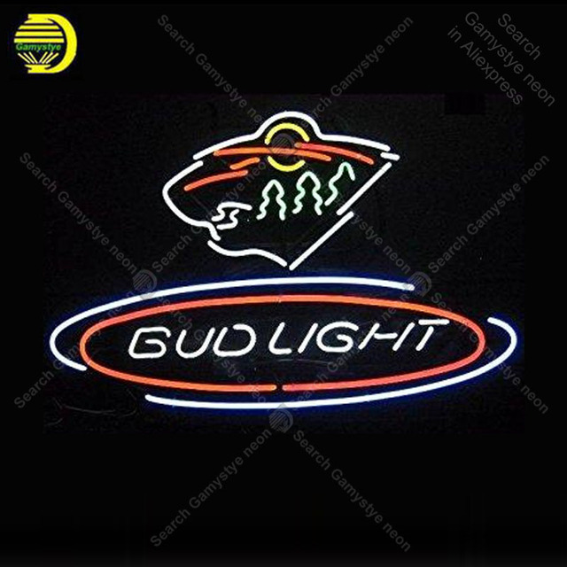 NEON SIGN For Budlight Sports Team NEON Lamp GLASS Tube Affiche Decor Shop  Window Handcraft Publicidad
