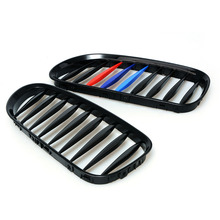 Black M color Front Kidney Grille Grill For BMW E85 E86 Z4 2003-2008 Convertible Coupe Car Lattice(China)