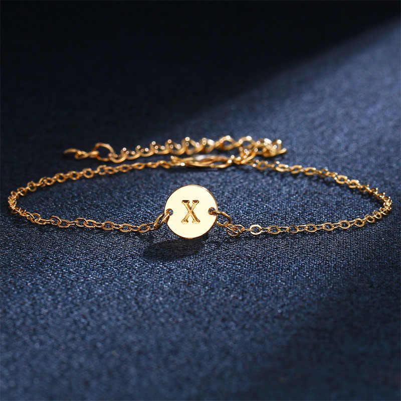 Горячая 1 шт. английская буква золотого цвета T-Z браслет для женщин и мужчин браслет Anket друзья подарок
