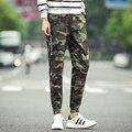 Pantalones de los hombres 2016 Otoño Moda Camo Marino Negro Puño Elástico Ocasional Pantalones de Los Hombres Pantalones Casuales Tamaño Más 5XL 4XL M