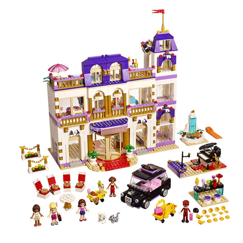 1676pcs Diy Friends Heartlake Grand Hotel Building Blocks Compatible With Legoingly 41101 Bricks Toys Gift For