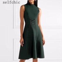 2018 Spring Women Knitted Dress Sleeveless Party Dresses
