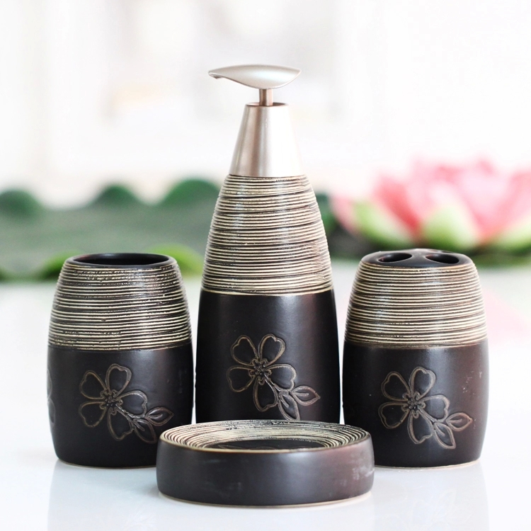 4pcs free shipping wedding decoration china black white thread 4pcs free shipping wedding decoration china black white thread floral patterns ceramics bathroom accessories toothbrush holder junglespirit Gallery