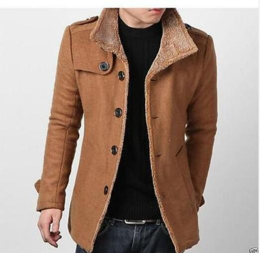Brown Pea Coat Mens